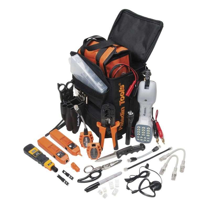 Ultimate Telecom Technician's Tool Kit with Tool Bag, 18 Pieces