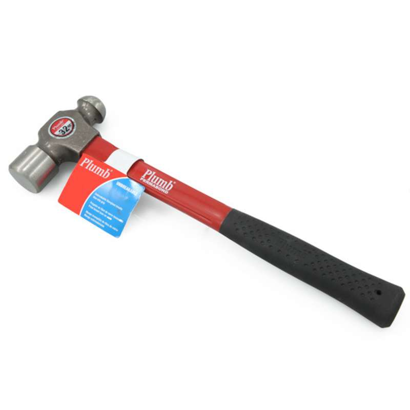 "Fiberglass Ball Pein Hammer with 32 oz. Head, 15"" Long"