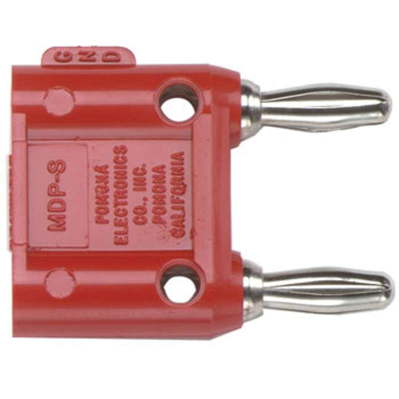Double Banana Plug with Shorting Bar, Red