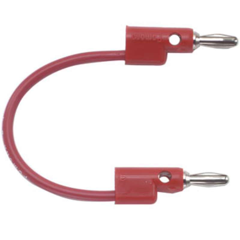 "Multi-Stacking Banana Plug Patch Cord, 72"", Red"