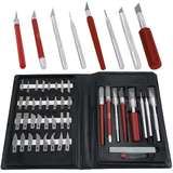 Super Deluxe Knife Set, with Knifes, Hobby Awl, Burnisher, and Blades