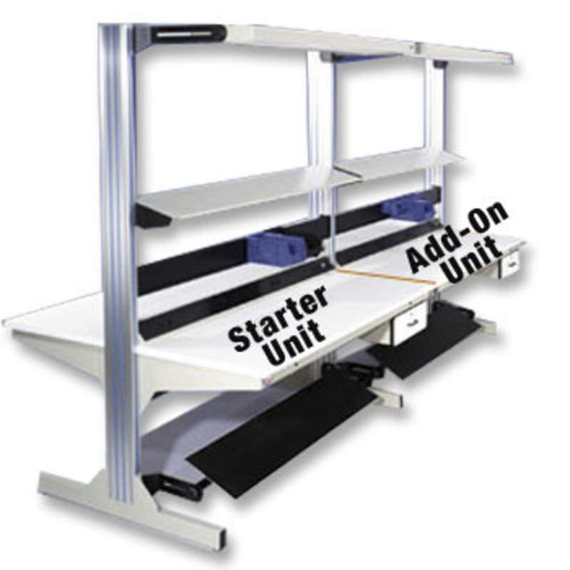"""Dimension Next Double Sided Non-ESD Workstation Add-On Unit 30""""D x 48""""W x 82""""H Column"""