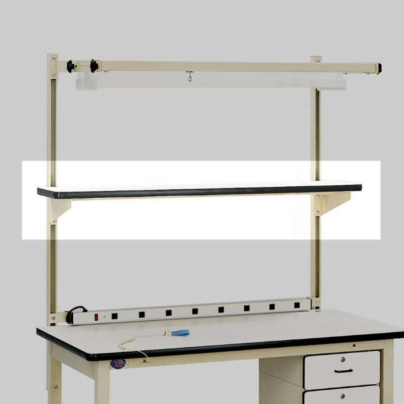 "ESD-Safe HD Series Quick Ship Cantilever Shelf with T-Mold Edge, 12"" x 72"""