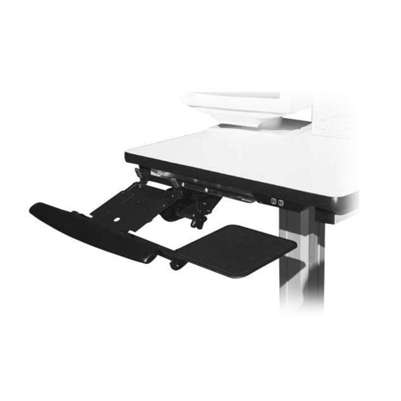 Deluxe Sliding Keyboard Tray, Adjustable Height, with Armrest