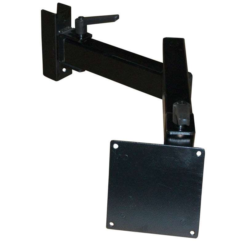 HD Series Flat Panel Monitor Display Arm with Both 75mm and 100mm Hole to Hole Mounting, Textured Black