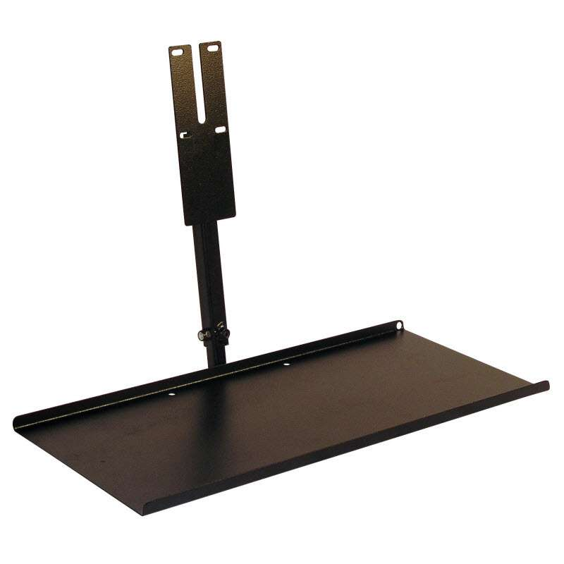 "Adjustable Keyboard Tray for use with Flat Panel Monitor Display Arm, Textured Black Tray dimensions: 18"" wide x 8"" deep."