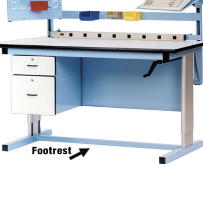 """Quick Ship Option Footrest for 60"""" Width Basic Series Bench"""