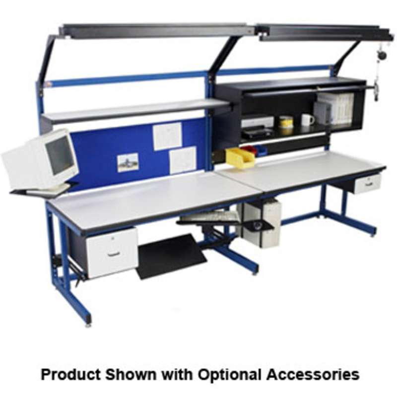 """Basic Series Quick Ship Single Sided Non-ESD Workstation Add-On Unit, 30""""D x 72""""W x 65""""H"""