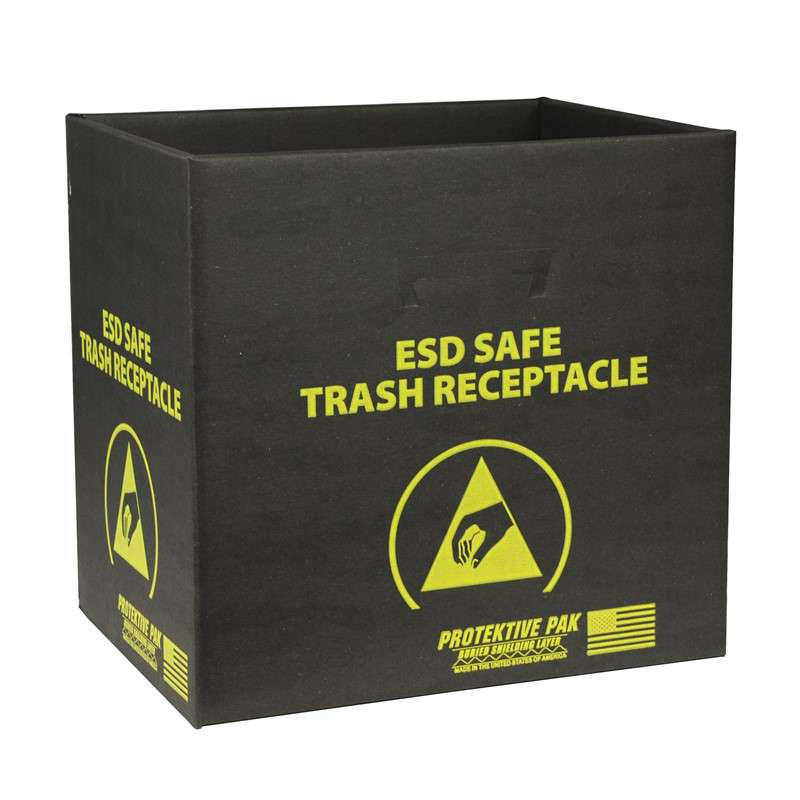 Black Trash Receptacle without Handles and Wires, 13-1/2 x 12 x 13-1/4in