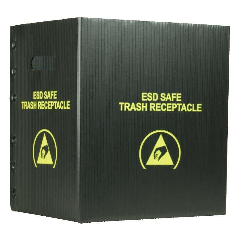 Black Small Trash Receptacle, 10 Gallon