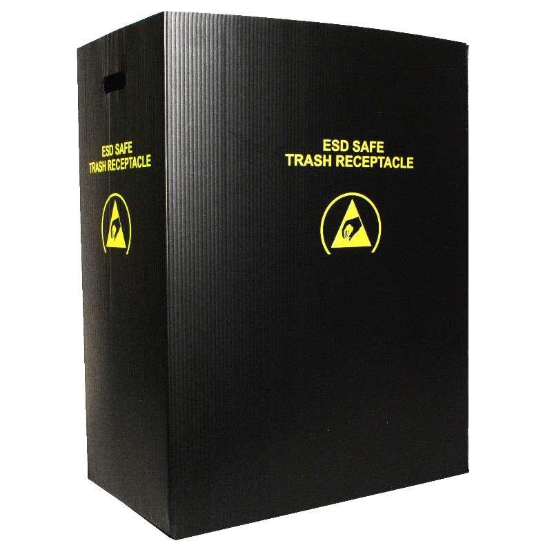 Black Large Trash Receptacle, 36 Gallon