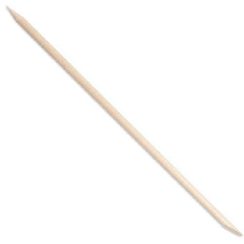 """Double-Ended Orange Sticks with Single Bevel, Pointed Ends, 6"""" Long, 100 per Box"""