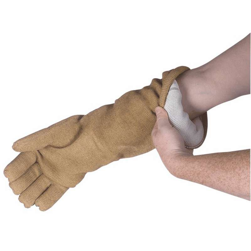 """Dissipative Qualatherm® Extreme High-Temp Wool Cleanroom Glove, Men's One Size Fits All, 14"""" Long"""