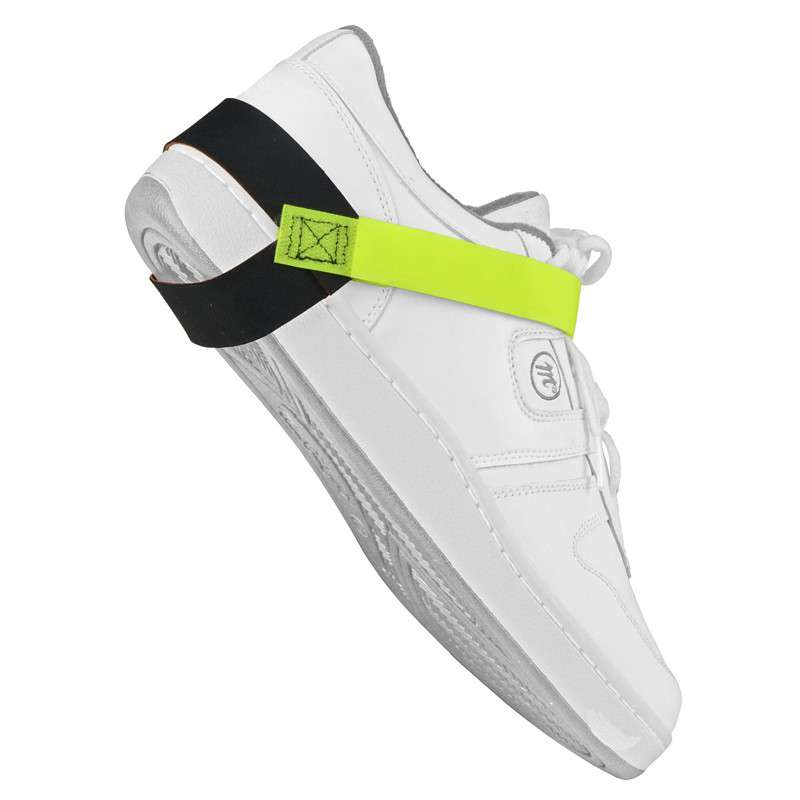 Non-Marking Heel Ground with Hi-Visibility Fluorescent Yellow Strap and 1 megohm Resistor