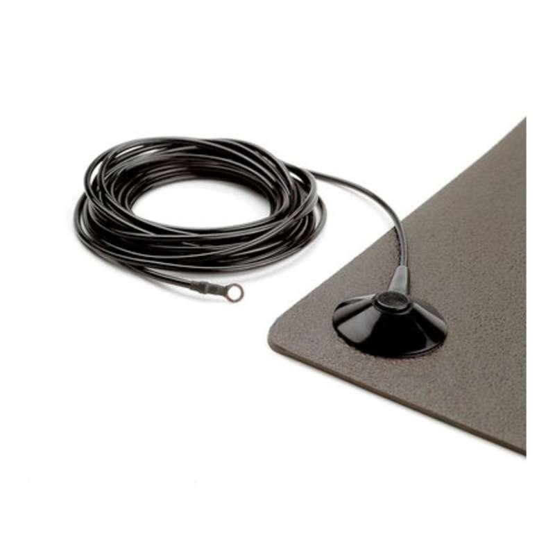"Ground Cord with 1 Meg Ohm Resistor and 3/8"" Male Snap, 15' Long"