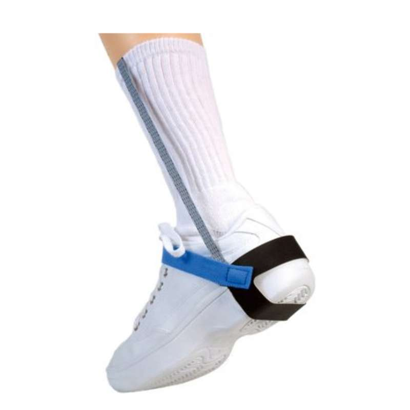 """Non-Marking Cup Style Heel Ground with 1"""" Wide Sole and 1 Megohm Resistor, Blue"""