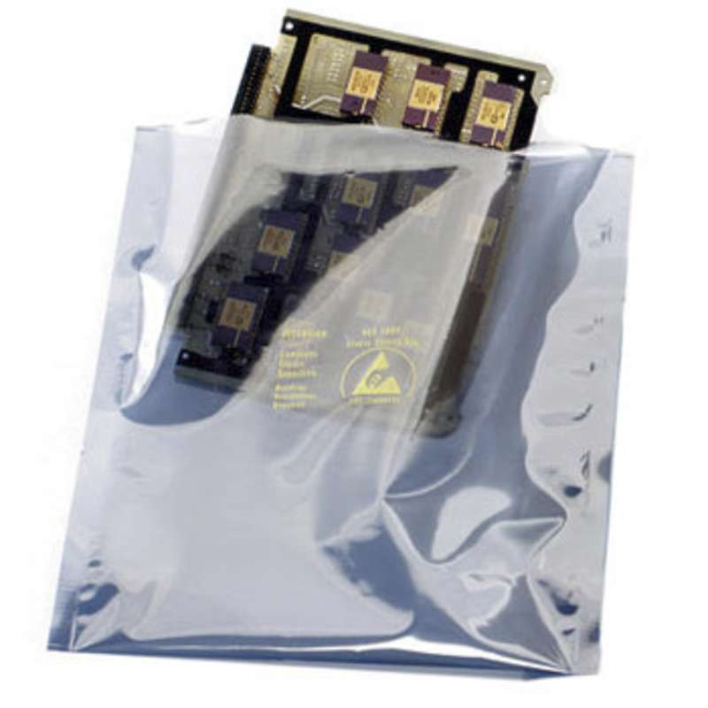 "1000 Series 2.8mil Open Top Metal-In Static Shielding Bag, 8 x 18"", 100 per Package"
