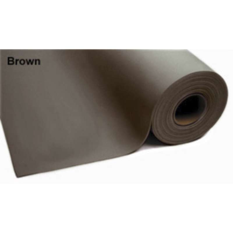 "8200 Series 3-Layer Dissipative Vinyl Matting Roll with No Hardware, 2.5 x 50', .140"" thick, Brown"