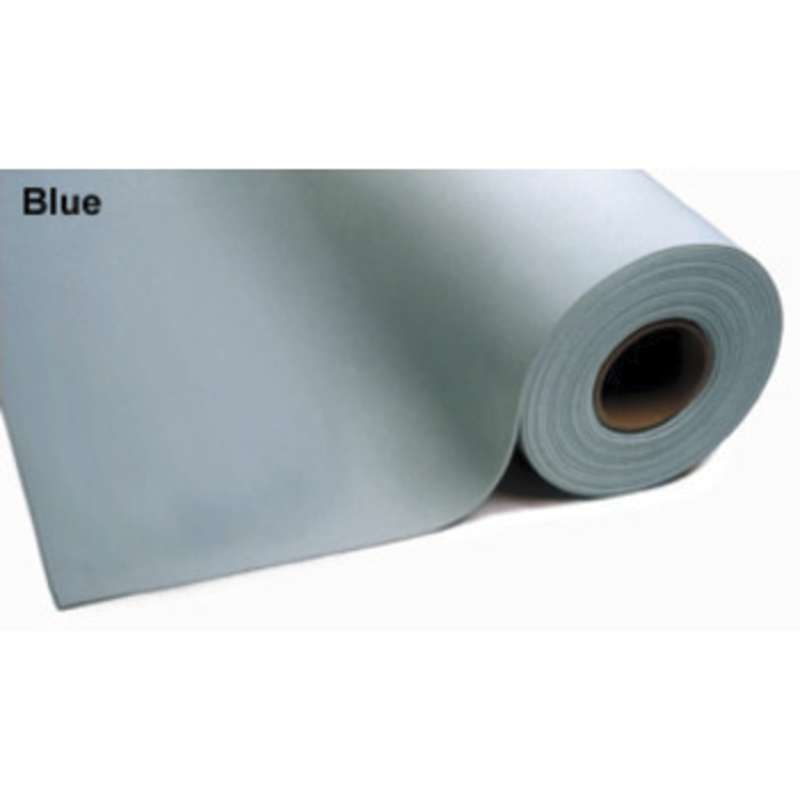 "3-Layer Dissipative Vinyl Worktop Mat with Ground Cord and Two Snaps, Blue, 24 x 48 x .125"" Thick"