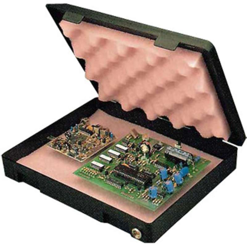 """Conductive Single Card Carrier with ESD-Safe Pink Convoluted Foam, 12x9x1-1/4"""" I.D."""