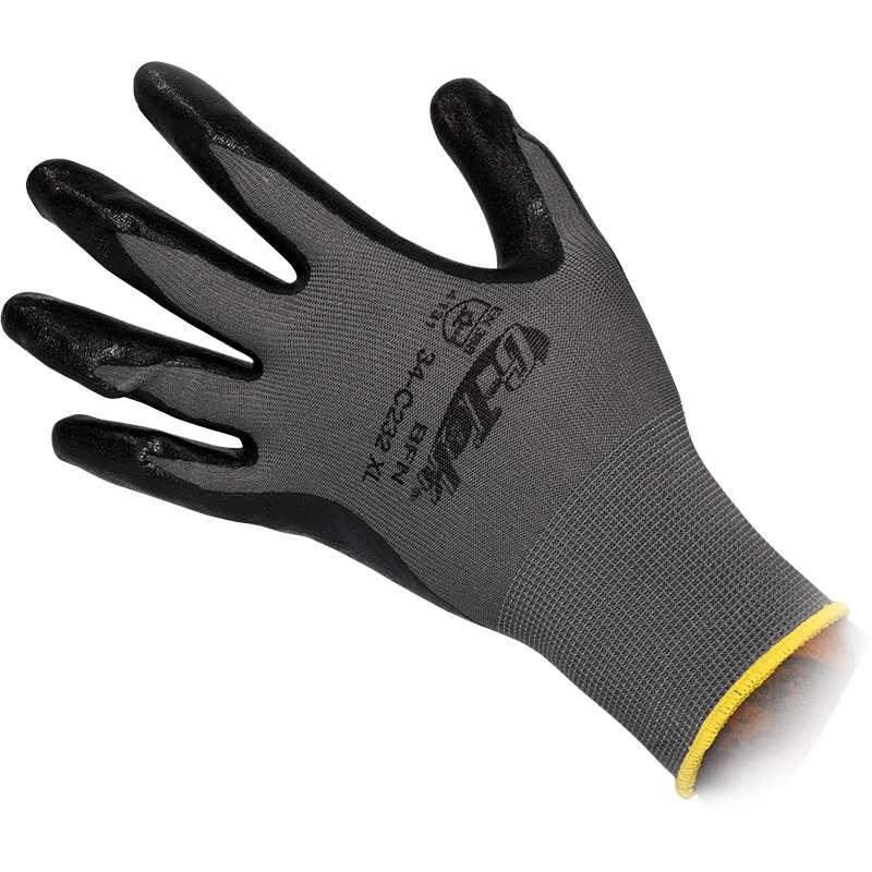 G-Tek® 34-C234 Continuous Knit Foam Nitrile Coated Glove, X-Large, Gray/White 25 DZ/CA