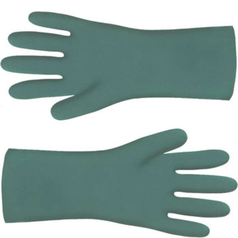 "ESD-Safe Nitri-Solve® 15mil Unlined Teal Chemical Resistant Gloves, Large, 13"" Long, 12 Pair per Pac"