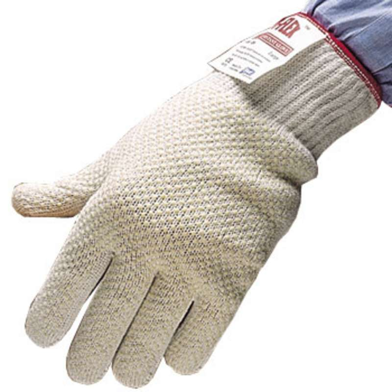 D-Flex® Level 4 Cut Resistant White Light Weight Knit Glove, 1 Glove, Medium