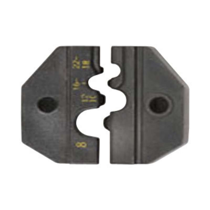 UC Series Crimp Die Set for 22-8 AWG Non-Insulated Ring / Spade / Butt Splice Terminals, and Four Hex Sizes