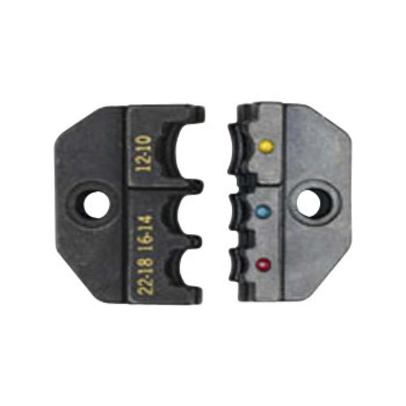 UC Series Crimp Die Set for 22-10 AWG Red/Yellow/Blue Insulated Quick Disconnect Terminals, and 3 He