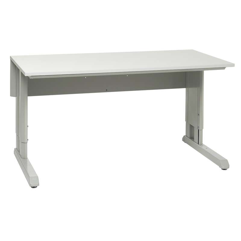 "Concept™ Series Non-ESD Manual Work Table Frame With Grey Laminate Work Surface 30""D x 72""W"
