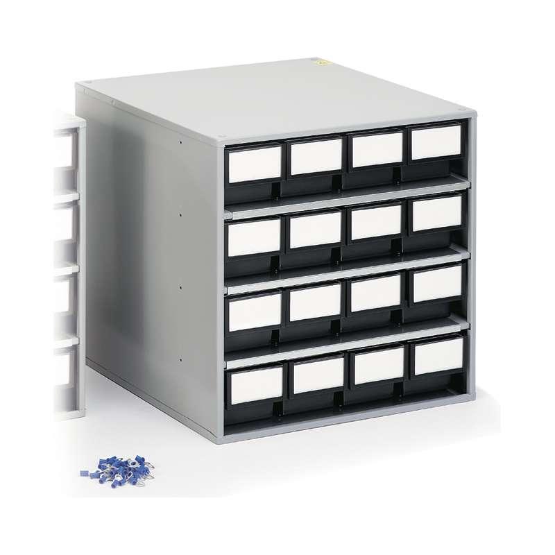 """ESD-Safe Treston® Storage Cabinet, 16 Drawer, 11.81""""D x 15.74""""W x 15.55""""H"""