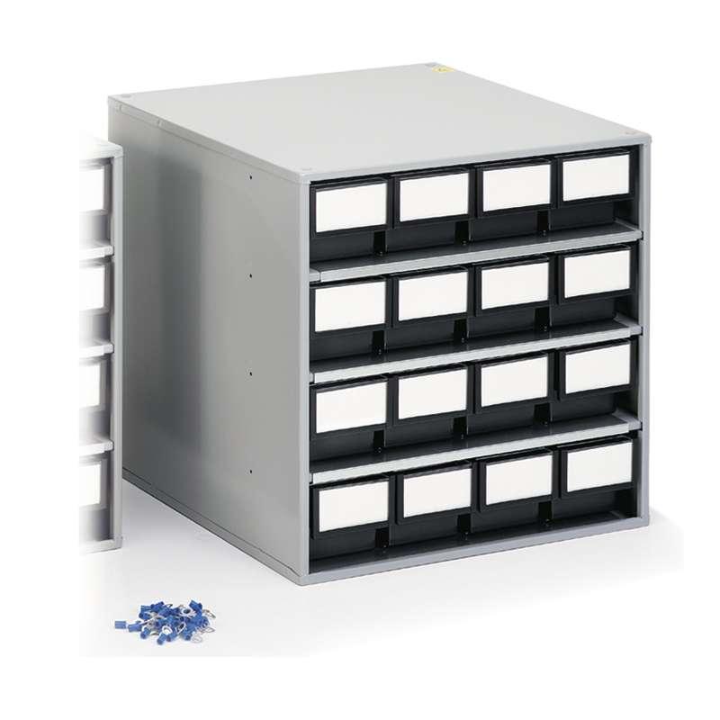 """ESD-Safe Treston® Storage Cabinet, 16 Drawer, 15.74""""D x 15.74""""W x 15.55""""H"""