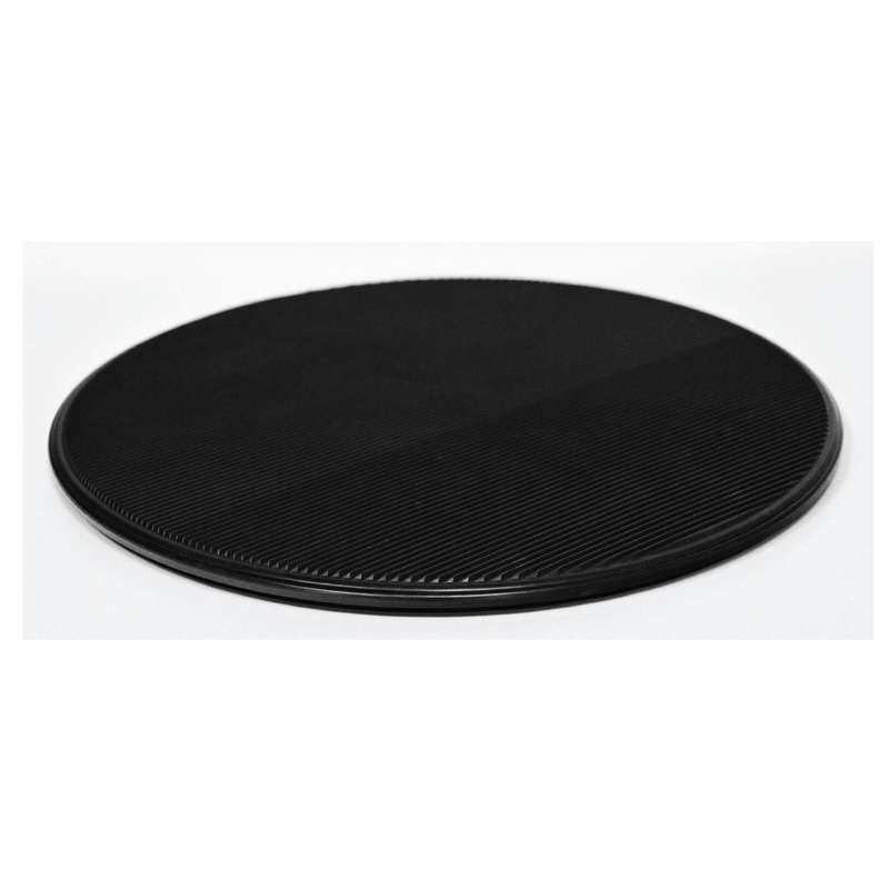 "ESD-Safe Dissipative Circular Turntable With Black Grooved Surface, 15"" Diameter"