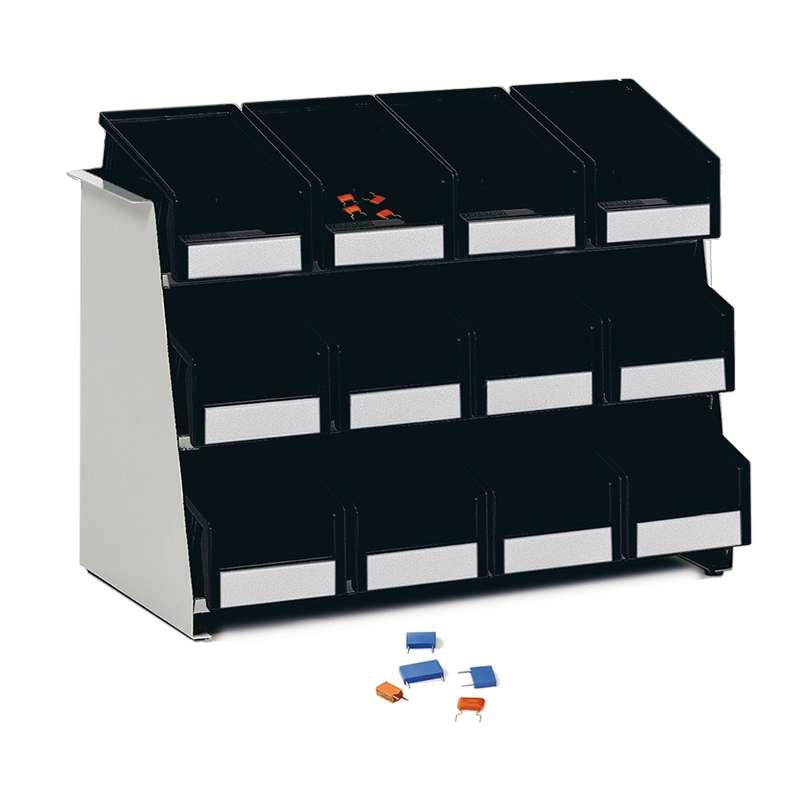 "ESD-Safe Polypropylene Treston® Component Rack, 7.87""D x 17.91""W x 11.42""H"