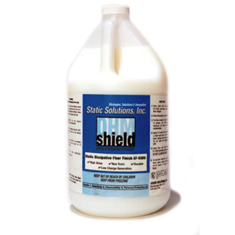 OHM Shield Floor Finish, 5 Gallons, Low VOC ESD Wax (Used w/OHM Shield System)