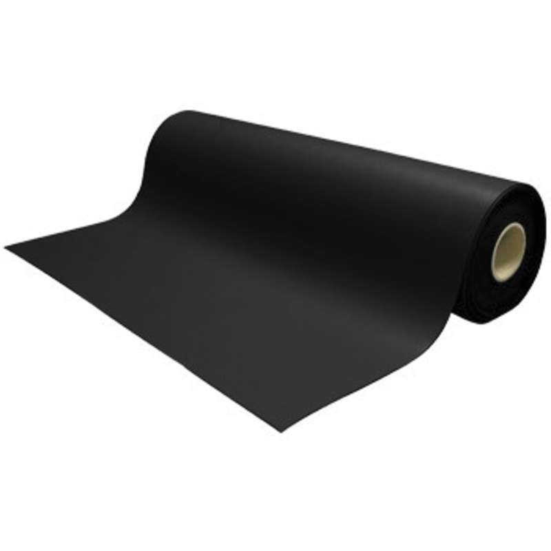 """Ultimat 2-Layer Diss/Cond Rubber Matting Roll without a Ground Cord or Snaps, Black/Black, 36"""" x 40' x .080"""""""