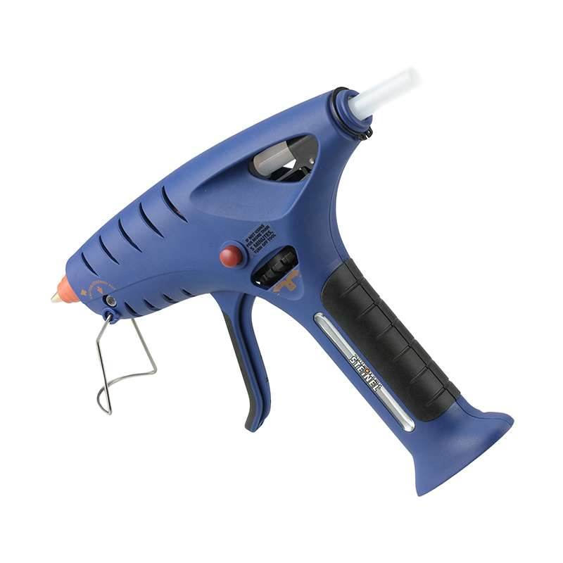 Butane Powered Glue Gun, Cordless, with Propping Stand and Instant Flow Cut-Off