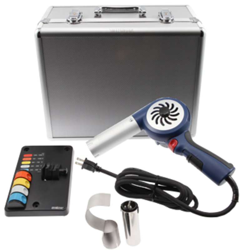 Heat Gun Kit with Temperature Keys and Accessories in Metal Case