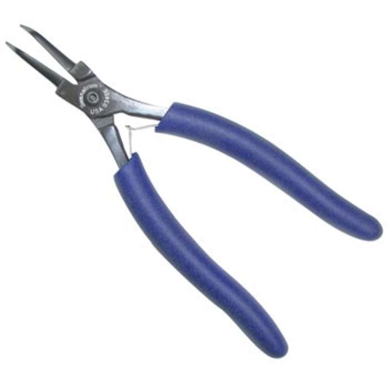 Needle Nose Curved Head ESD Plier with Smooth Jaw, 5.71""