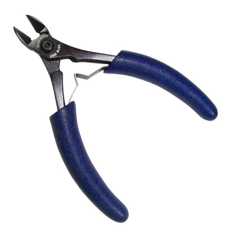 """ESD-Safe Oval Submini Head Super Flush Cutters with Traditional Grip Handles, 5-5/8"""" Long"""