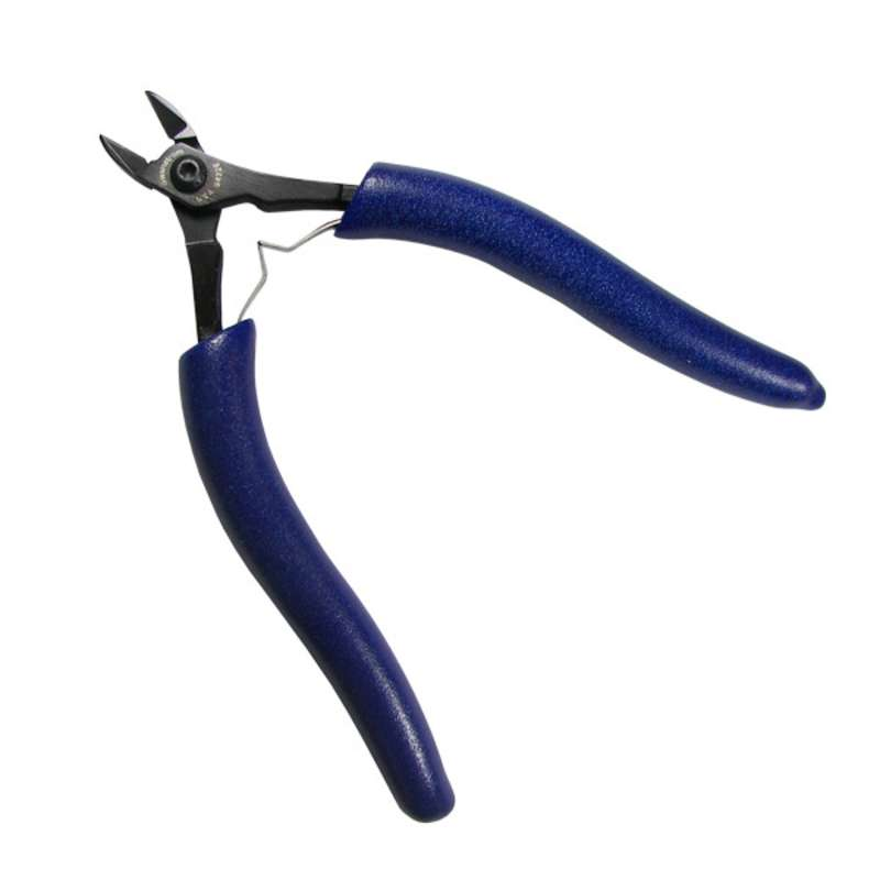 """ESD-Safe Oval Submini Head Super Flush Cutters with Ergonomic Grip Handles, 5-5/8"""" Long"""