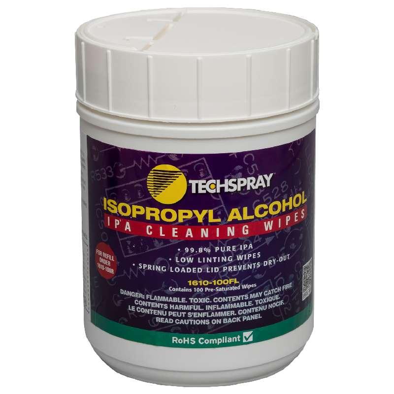 """Isopropyl Alcohol Wipes, 99.8%, 5-1/4 x 5-1/2"""", 100 per Flip-Top"""
