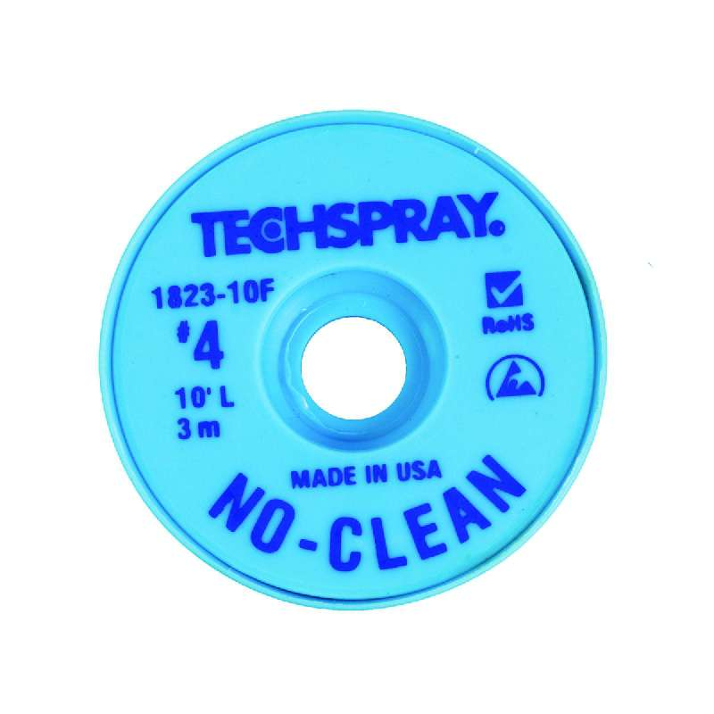 "No-Clean Desoldering Braid, .098"", 100' Blue ESD Spool"