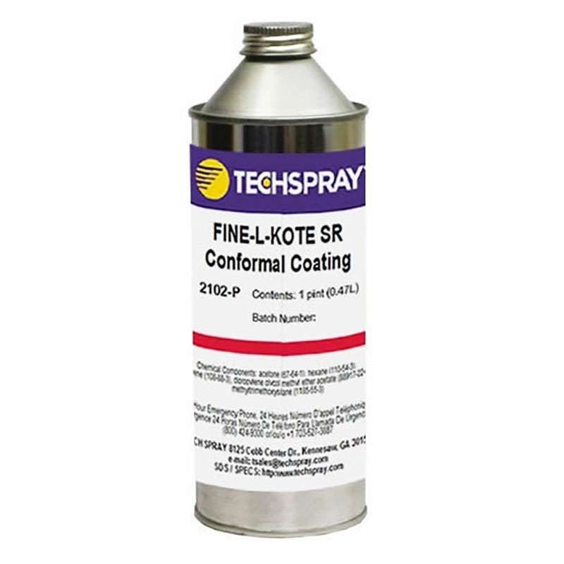 TECHSPRAY Techspray 2102-P - Silicone Conformal Coating, Clear, 1 Pint