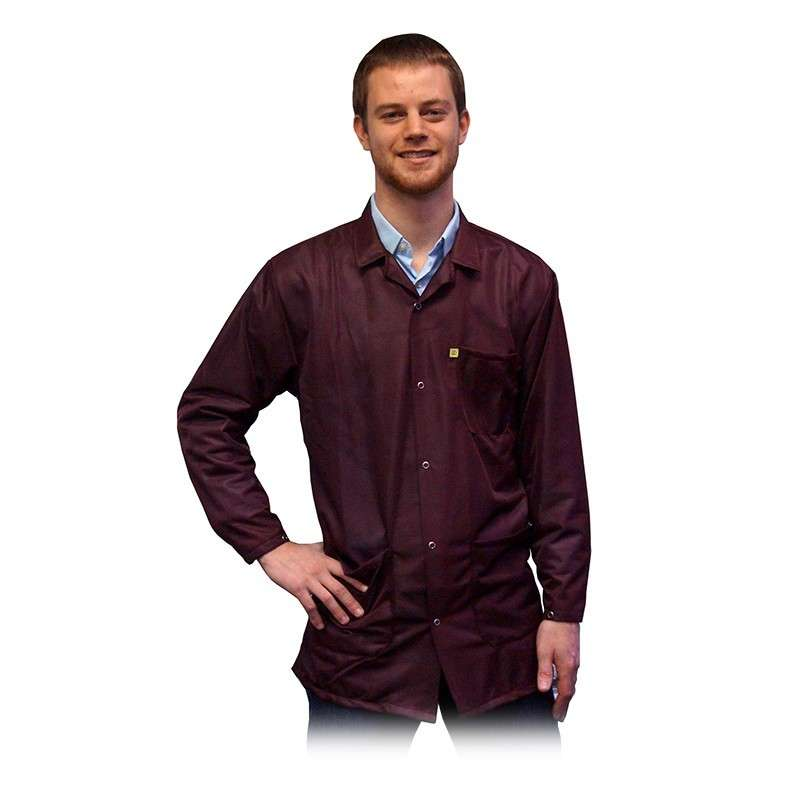 "ESD-Safe Light Weight Jacket, Maroon, 2X-Large 31-3/4"" Long"