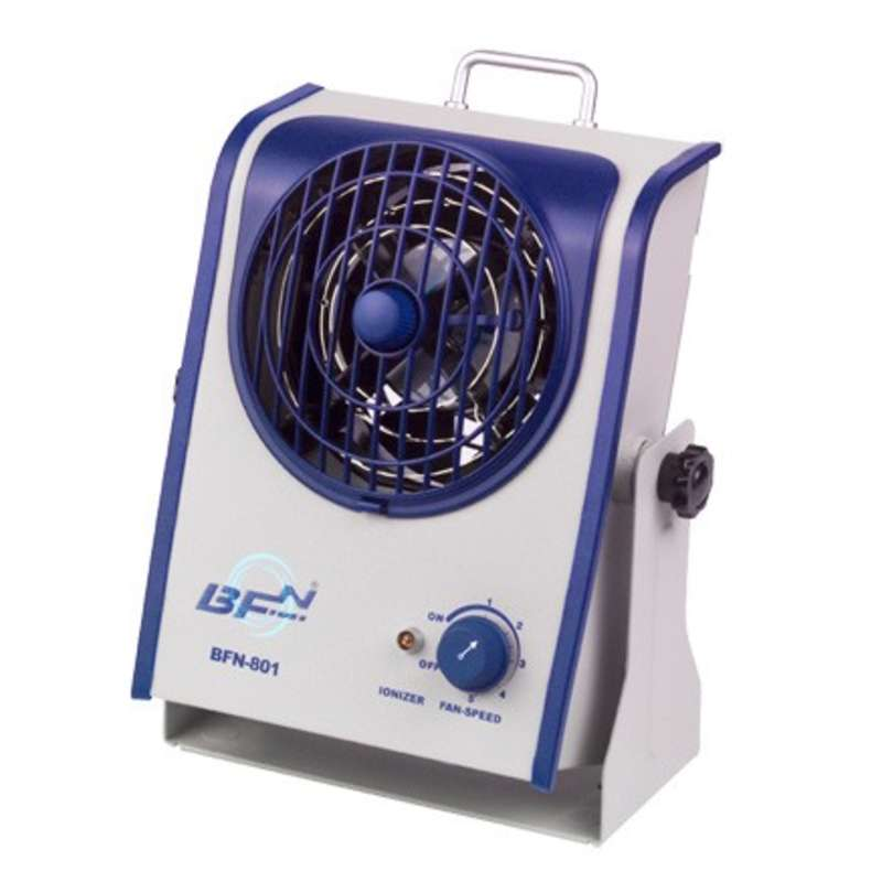 BFN® Series 1-Fan Bench Top AC Ionizer Blower with Integrated Emitter Cleaning Device and Variable F