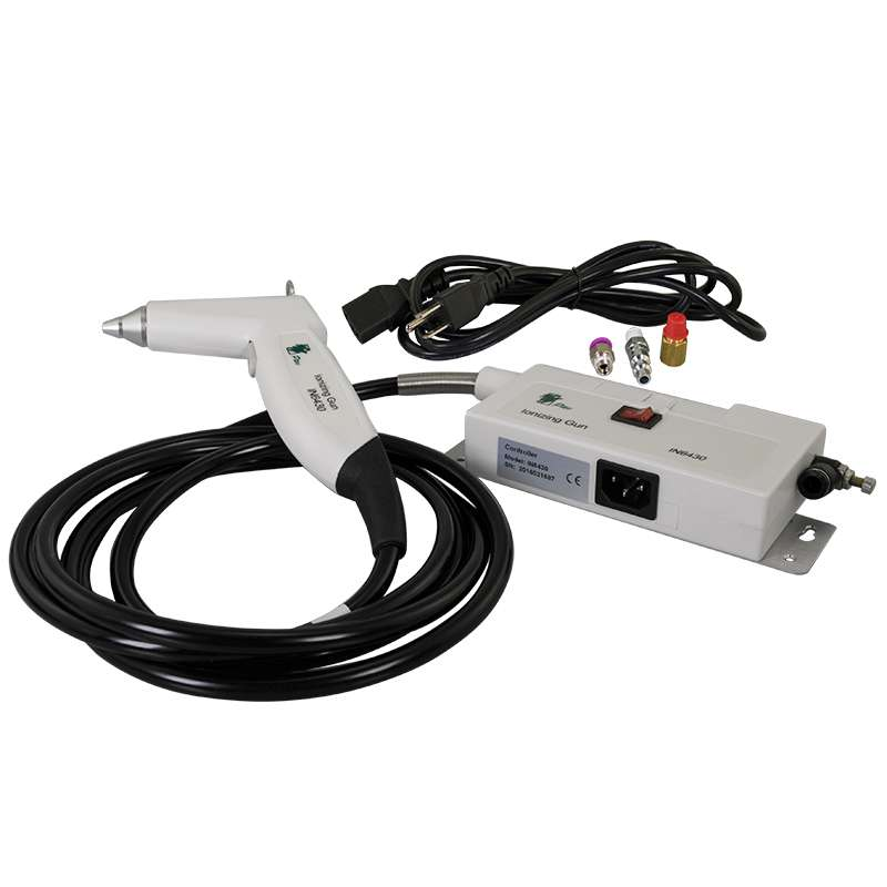 Ptec™ Ionizing AC Air Gun with 9' Hose and Alarm Indicator, 120 V
