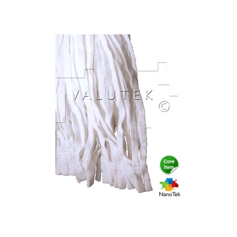 "Nano Tek® ESD-Safe Cleanroom Polyester Tubular Mop Head, Launderable, 7 x 16"""