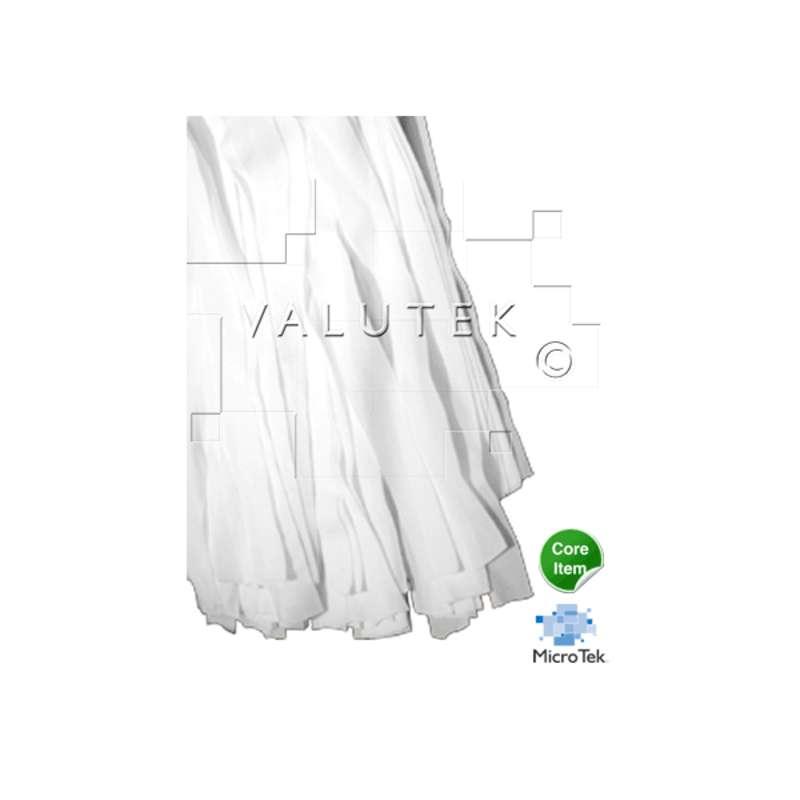 "Micro Tek® Cleanroom Raised Floor Flat Polyester Mop Head, Limited Usage, 4-1/2 x 16"""