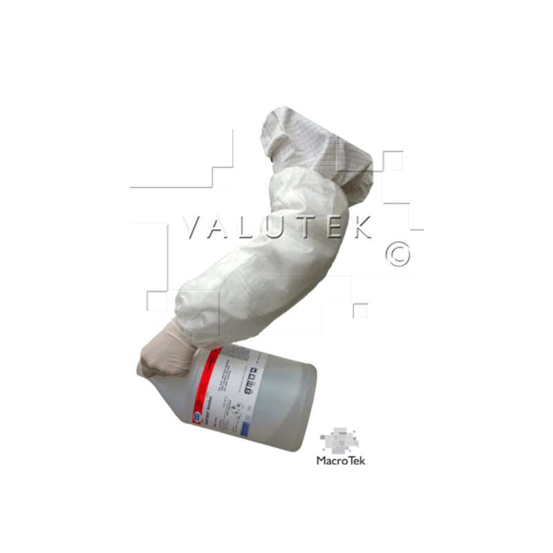 "Macro Tek® Cleanroom Disposable Polypropylene 18"" Sleeve, White, 200 per Case"